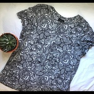 Who what wear black and white print top